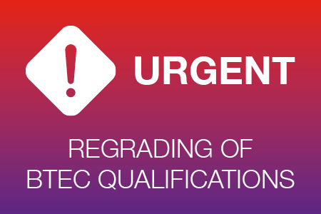 Pearson announcement about the regrading of BTEC qualifications