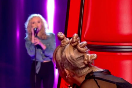 Charlotte Turnbull performs on BBC show The Voice