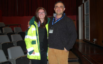 London Ambulance Service worker talks to students about career options