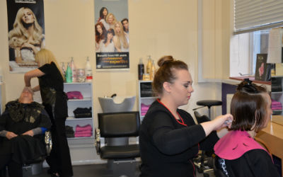 Hairdressing students raise money for homeless charity