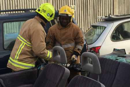 Nescot students visit Epsom fire station