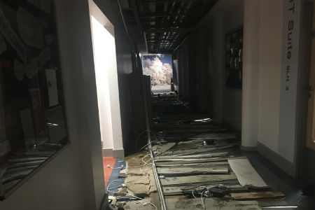 Classes relocated after rain damages ceiling