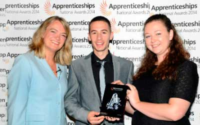 Nescot Computing apprentice highly commended at awards ceremony