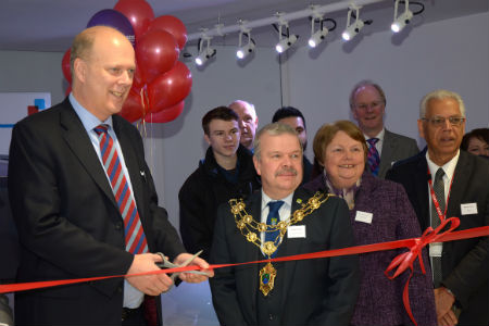Epsom Motor Academy Opened By Mp Chris Grayling Nescot
