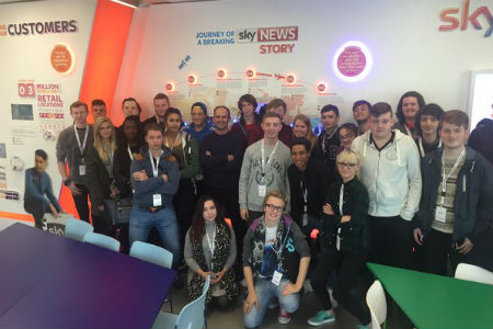 Media students spend day at Sky's London headquarters