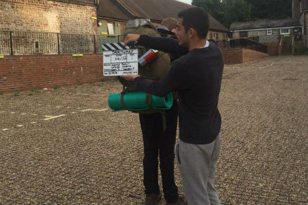 Media students shoot movies on location in the South Downs