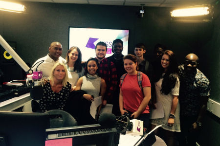 Students visit Kiss FM to record advert for summer marketing campaign