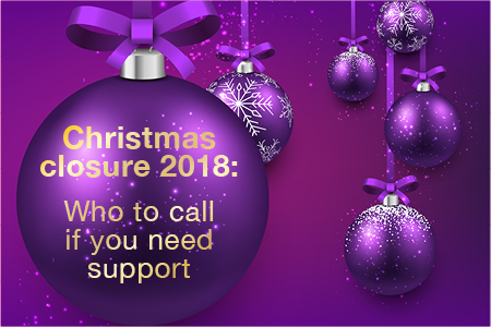 Christmas closure 2018: Where to go if you need support