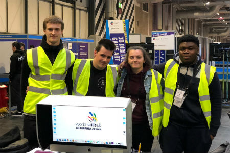Computing and Media students reach 2018 national finals of WorldSkills UK