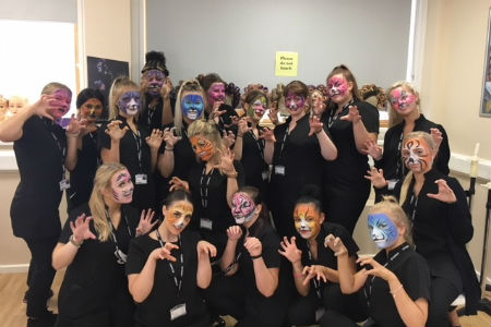 Hair and Media Makeup students help raise £5,000 for Rainbow Trust