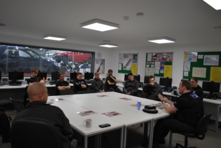 Motor Vehicle students welcome police officer as industry expert