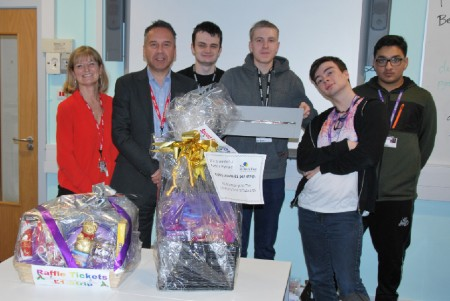 Computing students raise £842 for children's charity