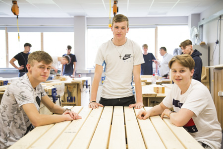 Carpentry and Joinery students working on community projects